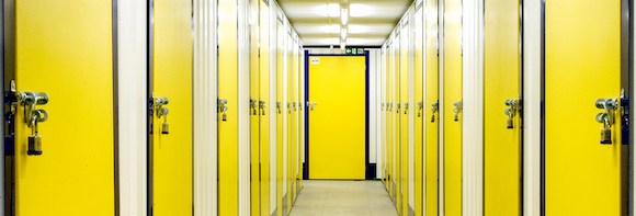 Self Storage Yellow Doors Internal corridor