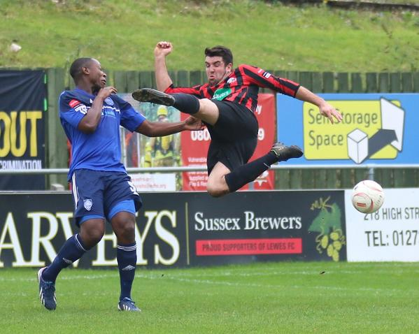 Sam Coles Lewes FC Flying Kick