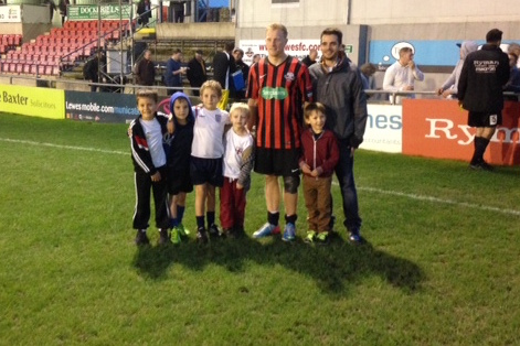 Blewden Man of Match at Lewes Football Club sponsored by Self Storage Space